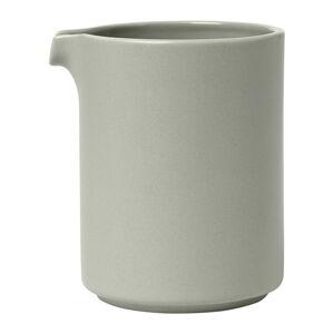 Světle šedá keramická mléčenka Blomus Pilar,280 ml