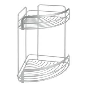 Nástěnný dvoupatrový rohový stojan Metaltex Viva!, 20x30cm