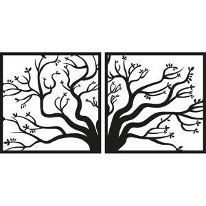 Černá nástěnná dekorace Tanelorn Tree of Life