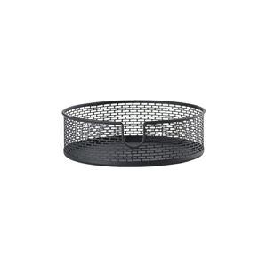 Černý kovový úložný košík Zone Inu,ø20cm