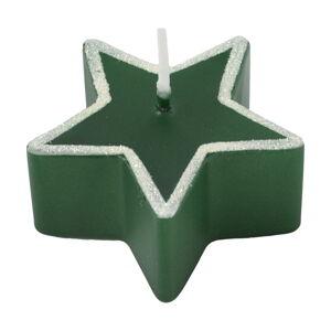 Zelená svíčka Unipar Star, doba hoření 4 h