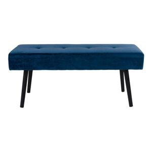 Modrá sametová lavice loomi.design Skiby