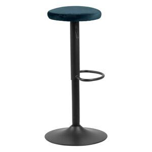 Barová židle s modrým polstrováním Actona Finch