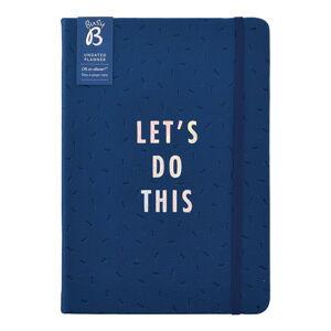 Modrý plánovací kalendář Busy B Vibrant Vbes, 365 stran